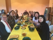 Meal with monks and nuns